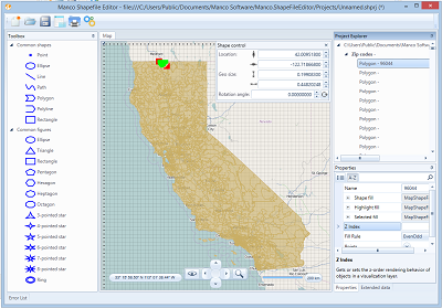 Click to view Manco Shapefile Editor screenshots